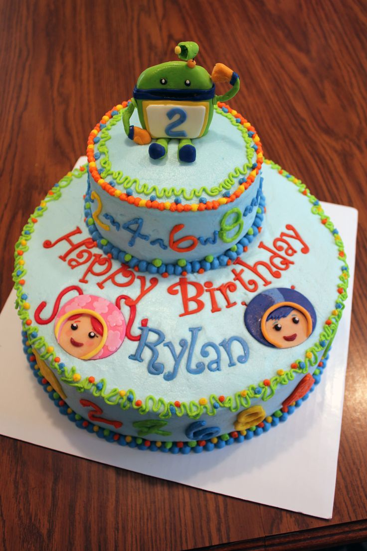 Team Umizoomi birthday cake Look at the name on the cake!!! Its a sign! Except this cake would be for my other kid!