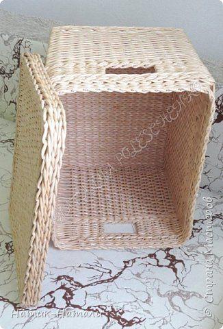 Поделка изделие Плетение Март-апрель Трубочки бумажные фото 8