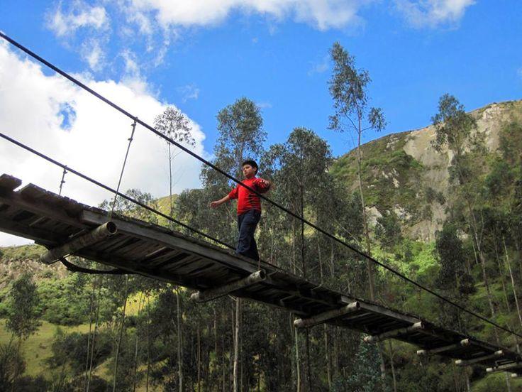 #HOTELS #SWD #GREEN2STAY Black Sheep Inn, Ecolodge, Ecuador Israel testing the suspension bridge
