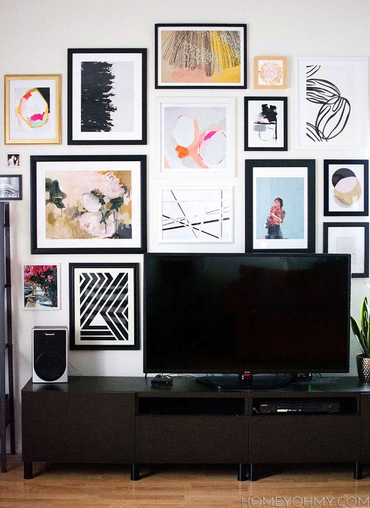 597 best Wall Art Groupings images on Pinterest Live, Art walls - artwork for living room