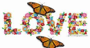 Love_Text with butterflies