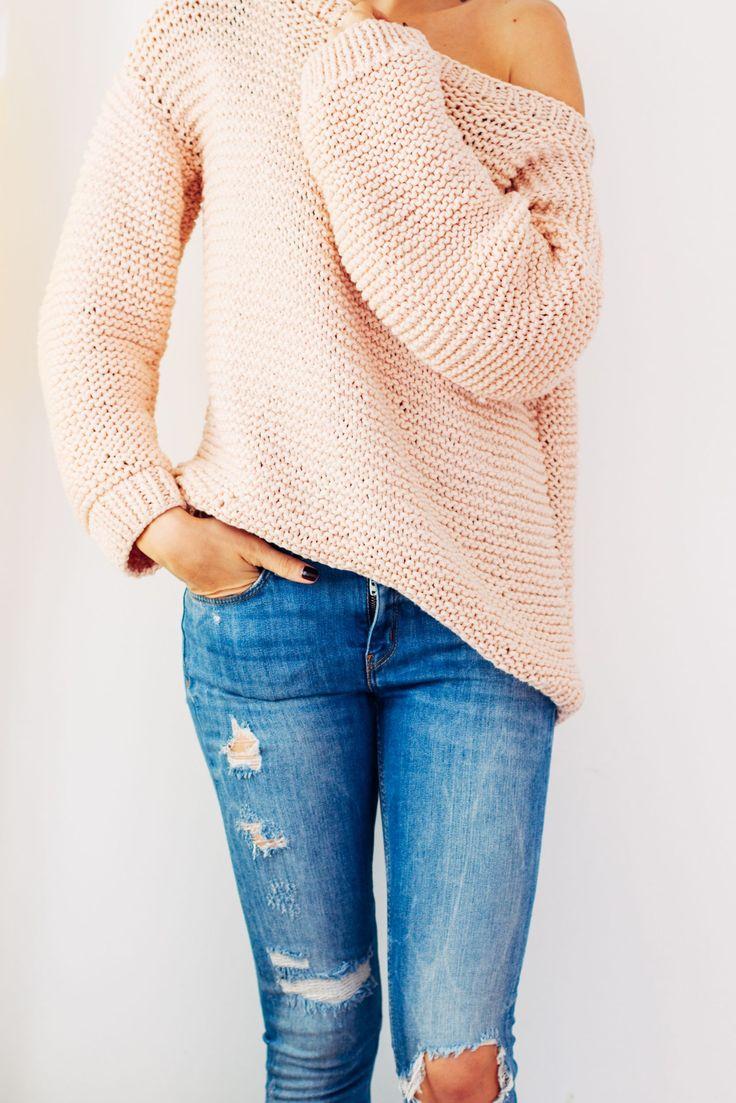 guía fácil sobre cómo tejer este suéter de gran tamaño - PATRÓN GRATIS