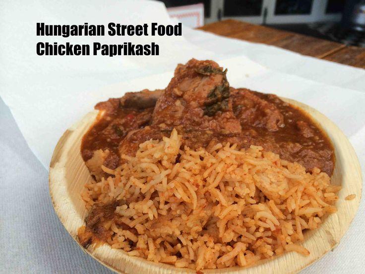 Hungarian Street Food - not so large Chicken Paprikash