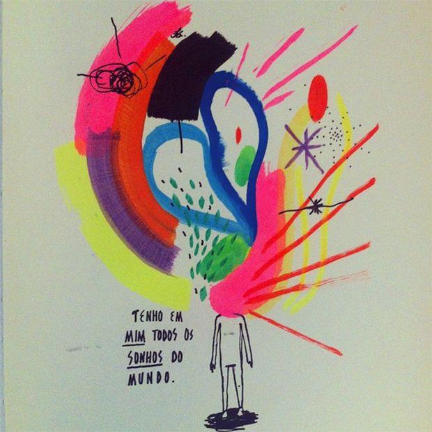 Em resposta às dores de uma separação, designer e ilustrador Felipe Guga cria projeto bem bacana que espalha mensagens de amor e luz pela internet.