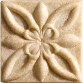"Found it at Wayfair - Romancing the Stone 2"" x 2"" Compressed Stone Floral Insert in Ivory"