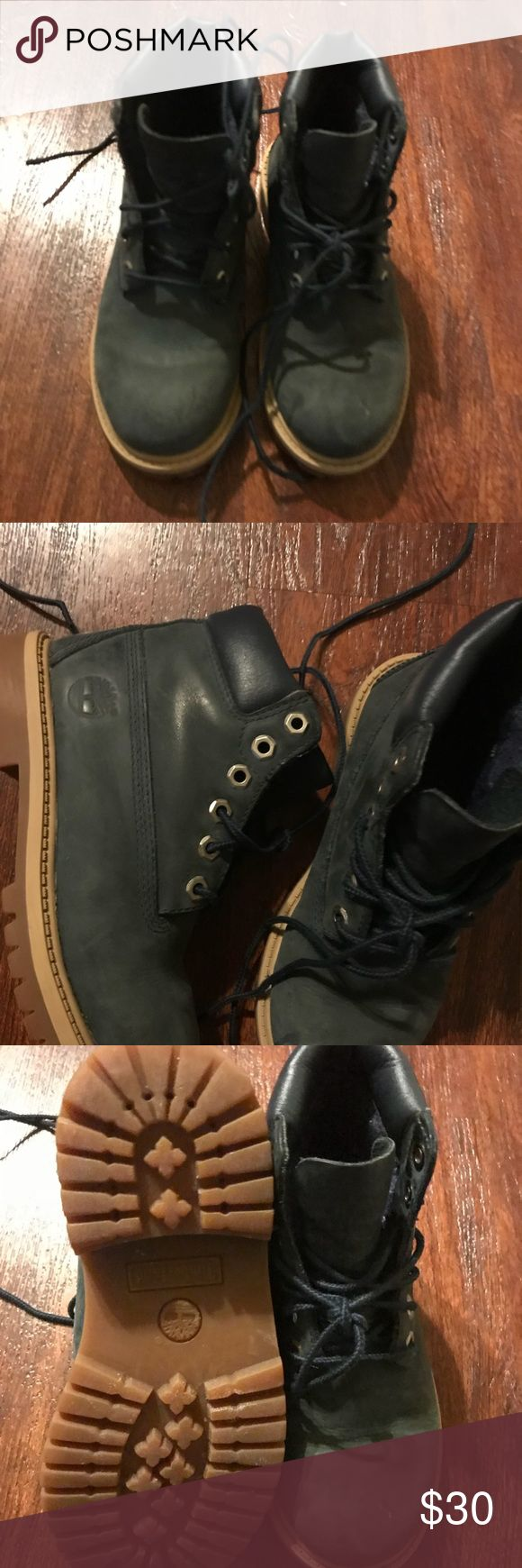 Timberland toddler boots A lovely dark green. Worn a few times but still in great condition! Timberland Shoes Boots