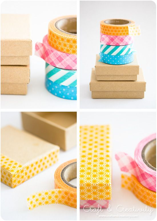 Art and Craft: Washi Tape boxes