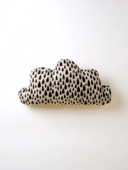 Black Cloud Cushion by Harvest Textiles $140 - 63x30cm