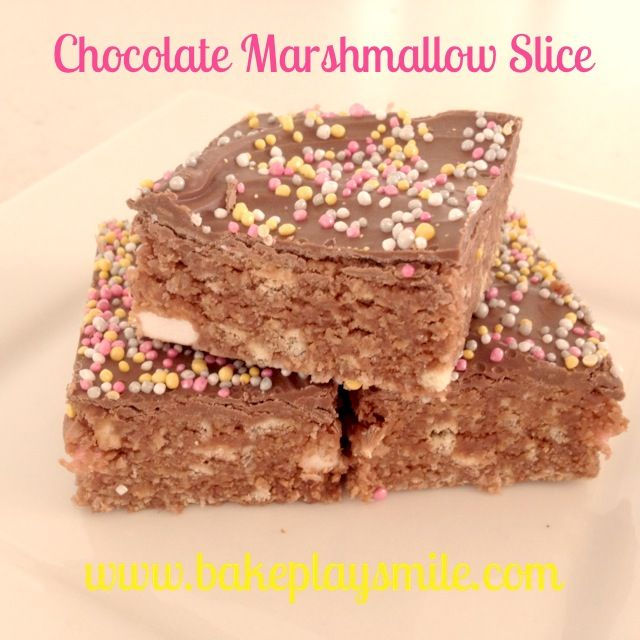 Chocolate Marshmallow Slice... with Sprinkles (Of Course!)