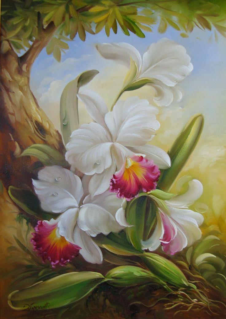 orquideas al oleo - Buscar con Google