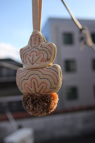 Sashiko-style hanging embroidered ornament  술 만들기...^^ : 네이버 블로그
