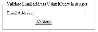 jQuery to Validate email address using RegularExpression in asp.net http://www.webcodeexpert.com/2013/07/jquery-to-validate-email-address-using.html