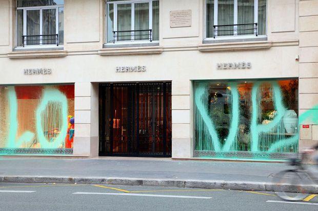 Kidult Vandalizes Hermès Paris | Art?
