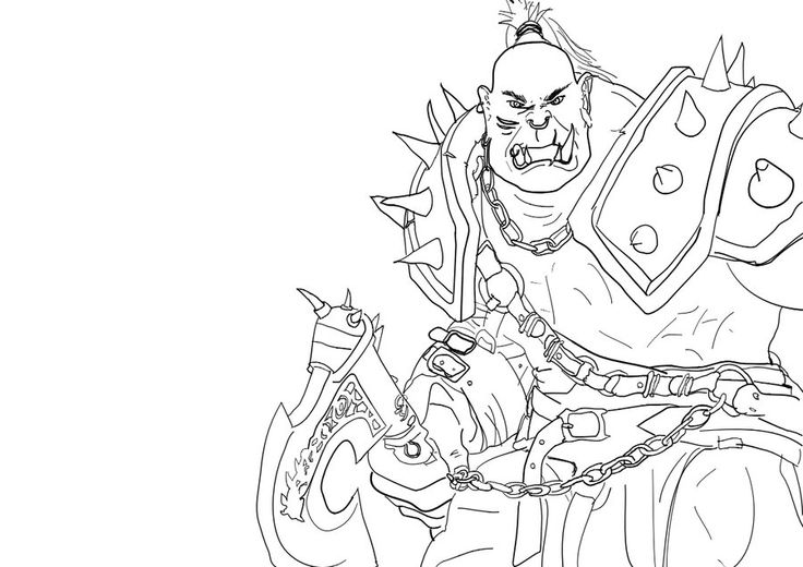 warcraft coloring pages - warcraft orc coloring pages sketch coloring page