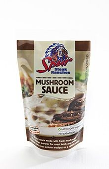 Spur's Mushroom Sauce. Deliciously chunky and made from the only the best quality mushrooms, Spur's Mushroom Sauce is the perfect accompaniment to roast lamb, steaks and potato wedges | https://www.spur.co.za/sauces/spur-sauces/mushroom-sauce