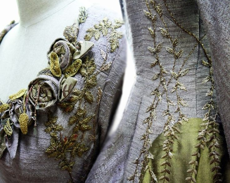 The level of detail is staggering. Costume embroider Michele Carragher takes her job very seriously.