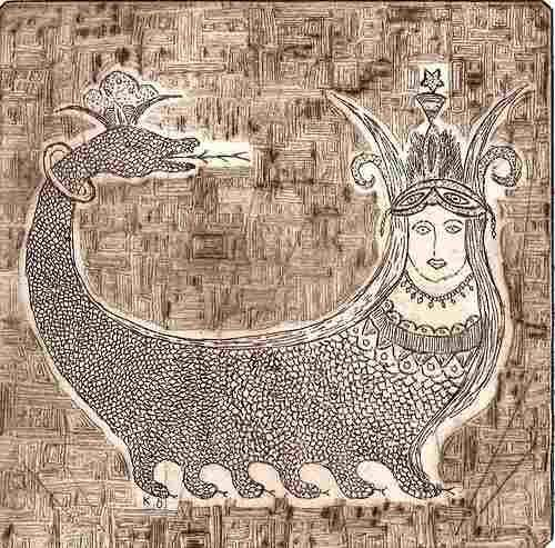 Shahmaran is a mythical creature from Anatolia.