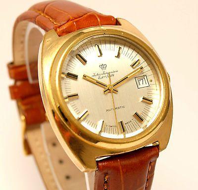 Swiss  Vintage Jules Jurgensen Automatic Watch  Date '70  ETA 2784