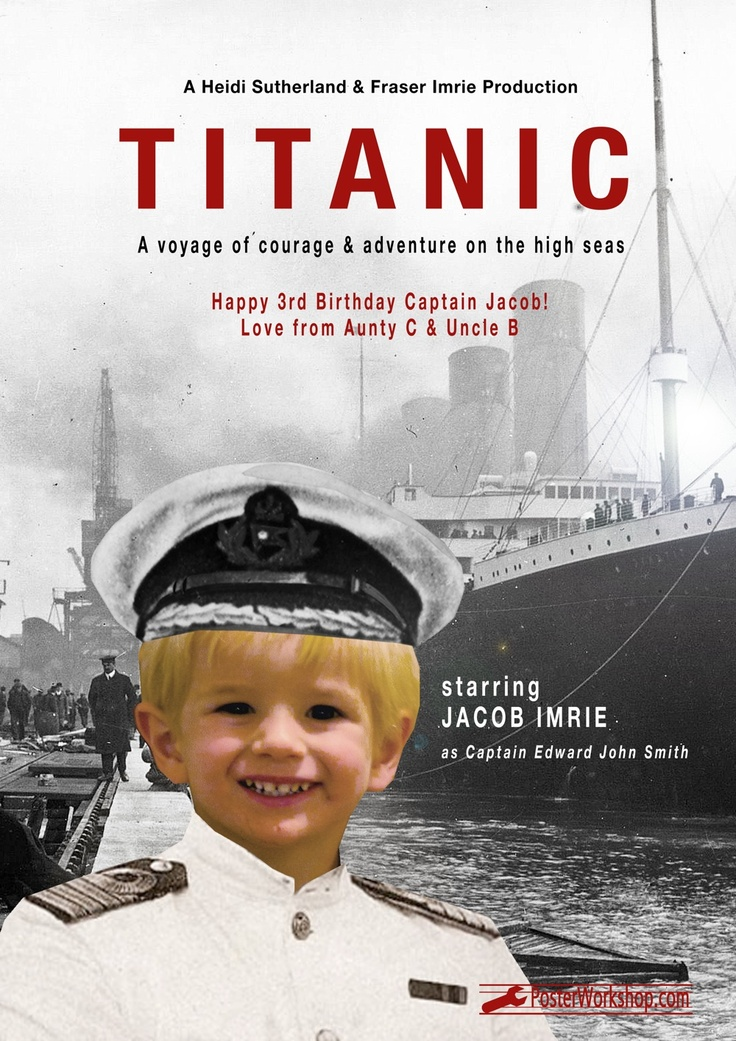 """Titanic"" Kids Movie Posters Gifts  From $45.00"