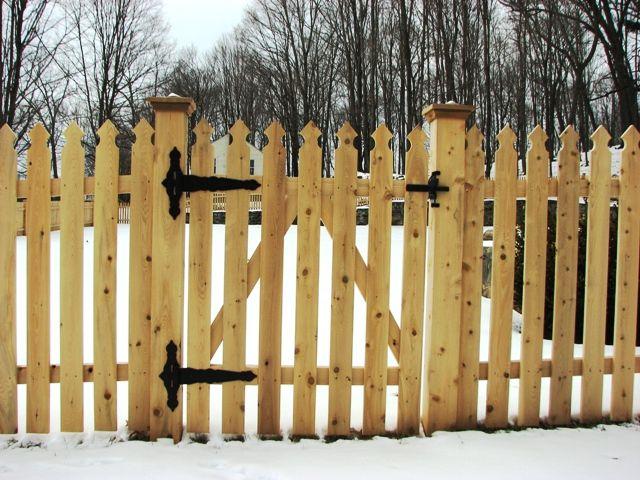 picket fence gate. wood picket fence gate