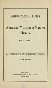 The sun dance of the Blackfoot Indians : Wissler, Clark, 1870-1947 : Free Download & Streaming : Internet Archive