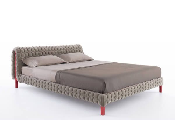 Doesn't this quilted Ruche bed from Ligne Roset look dreamy and comfortable?