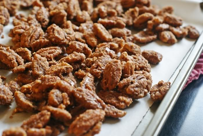Sugar & Spice Pecans...has 2 separate recipes for pecans...one sweet and one sweet/spicy.