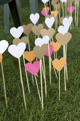 Aisle markers, Ombre and Cute ideas on Pinterest