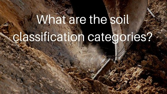 What are the soil classification categories?