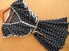 NWT NEW Womens Cecico Mod Junior Fashion Cloth Chic Polka Dot Chiffon Dress