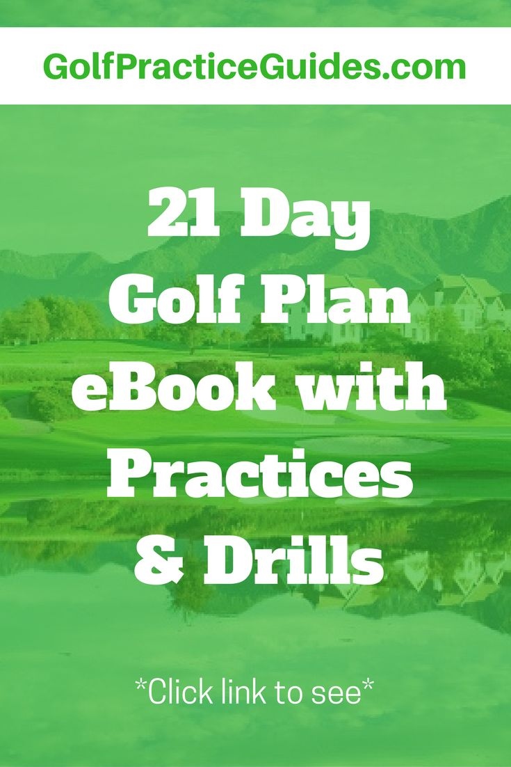 Click the link to read our golf eBook sharing some helpful golf tips to improve your game including a step by step training plan with golf drills over 21 days.. (golf drills, golf practice plan, golf swing tips, golf practice drills, golf chipping tips, g
