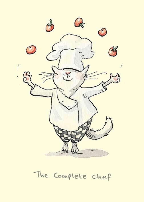 M232 The Complete Chef by Anita Jeram for Two Bad Mice cards