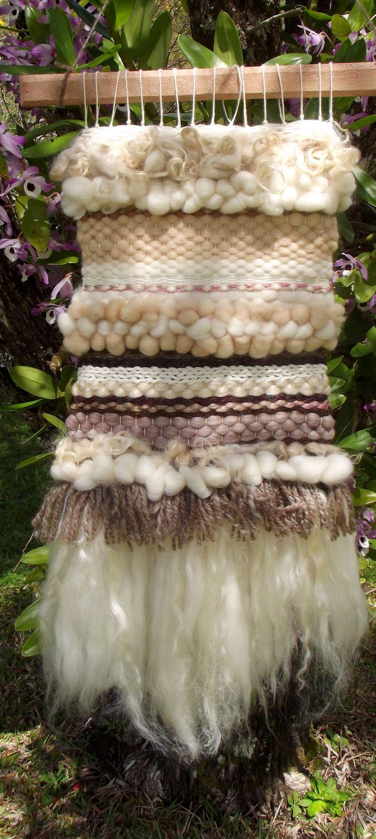 weaving with merino wool & silk by Sascha Tillsley - Little Swallow Weaves