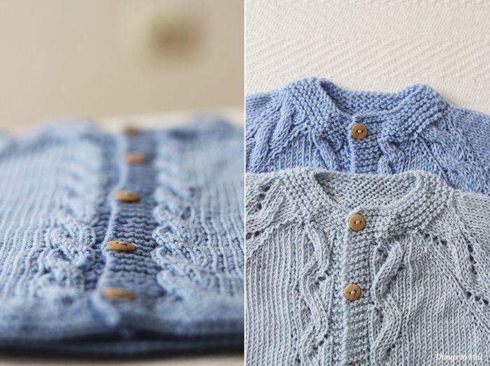 El Reto de Things to Knit: chaquetita para niño tejida con Katia Baby Merino