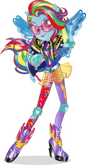 MLP Equestria Girls Friendship Games Rainbow Dash Motorcross Stock Image