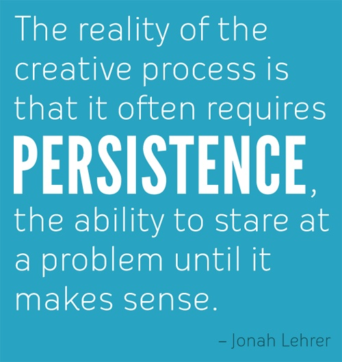 Persistence Quotes For Work: The Creative Process Requires Persistence!