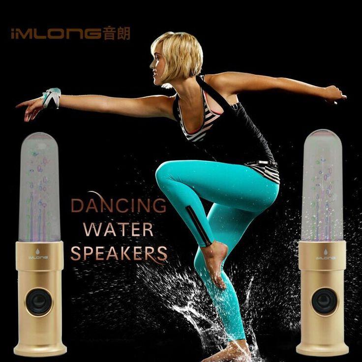 Оригинал Пуля формы живой воды танцы динамики поддержка карты ПАМЯТИ и LED яркий свет пара Привет-fi воды танцы динамики