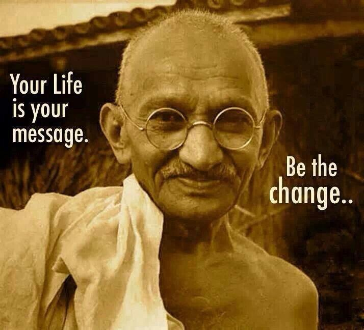 Be the change to change the world into a better place of love and harmony