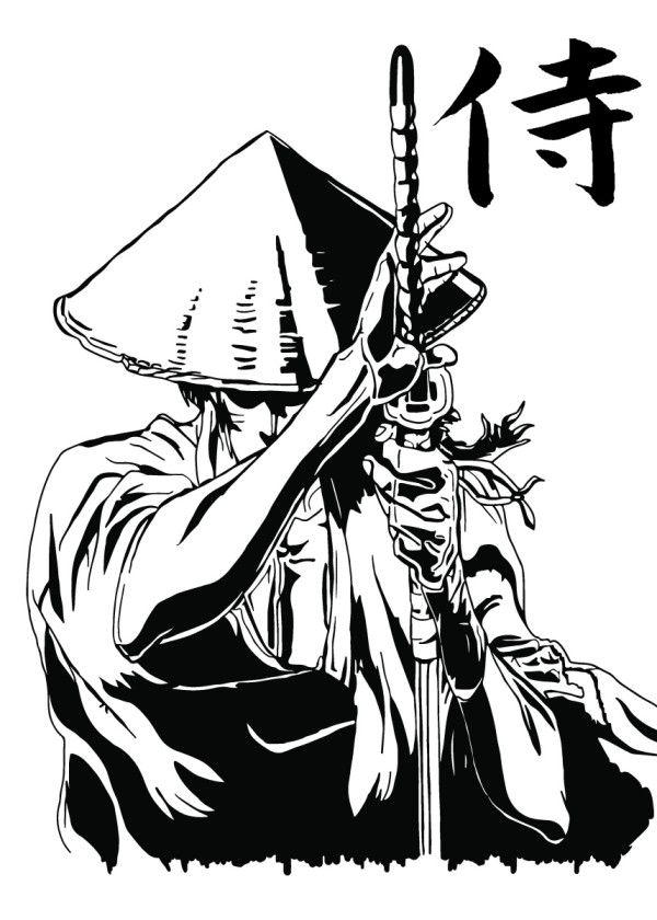 Displate Poster Jubei V1a Fanart Based On The Anime Ninja Scrolls Ninja Scrolls Jubei Samurai Anime Manga Draw Black Ninja Art Samurai Anime Samurai Art