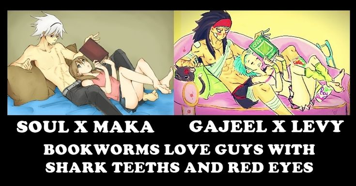 Soul x Maka, Gajeel x Levy Bookworms, Anime