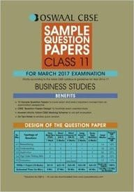 Business Studies Class 11 Sample Question Papers For March 2017 Examination  Paper Back