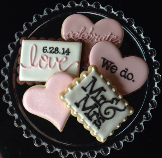 This listing is for one dozen wedding themed sugar cookies. They sparkle! You can totally customize this collection. Choose your shapes, your