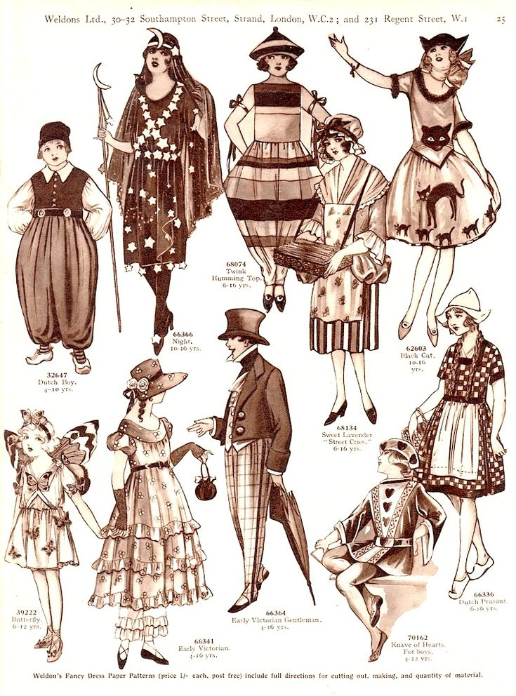WELDON'S CHILDREN'S COSTUME PATTERNS with Suggested Ages c. 1920s, London, >< 5 of 5