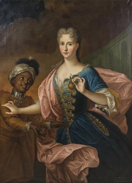 Ecole FRANCAISE du XVIIIème siècle, suiveur de Hyacinthe RIGAUD, 1700, Elisabeth l'Hermite d'Hieville (vers 1675), de la madame la marechale de Montesquiou d'Artagnan