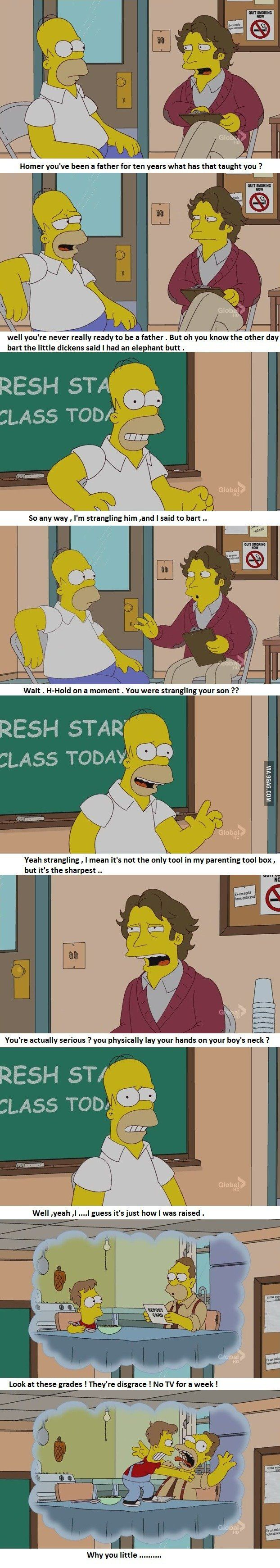 Homers Parenting Tool Box. The Simpsons