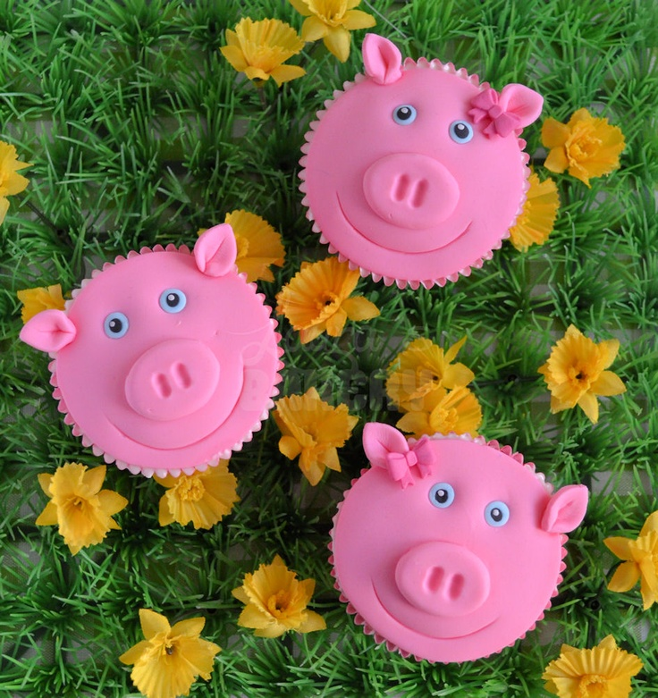how to pig cupcakes