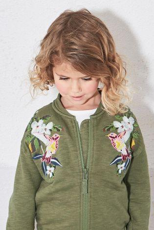"""Купить Куртка """"Пилот"""" цвета хаки с вышивкой (3 мес.-6 лет) - Покупайте прямо сейчас на сайте Next: Россия"""
