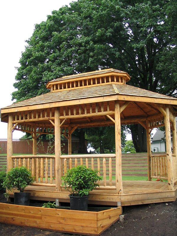Log Oval Gazebo Gazebo Life Pinterest Gazebo And Logs