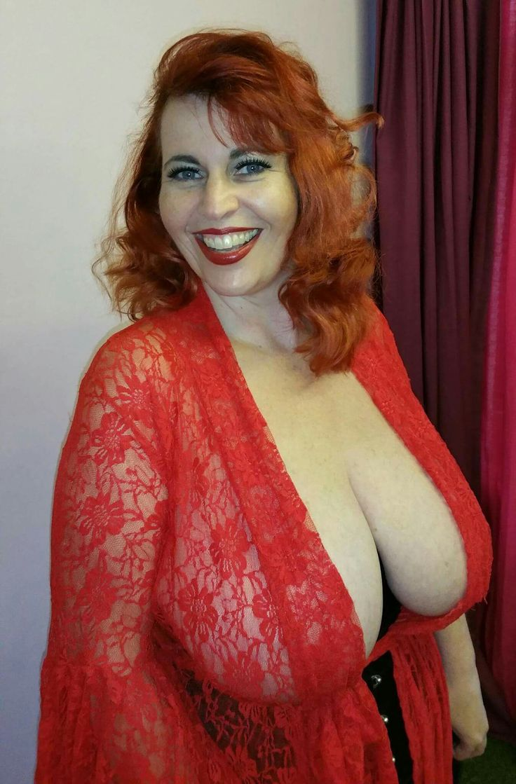 Red haired big boob women