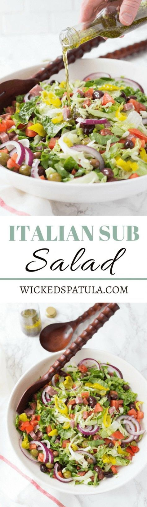 Get the recipe ♥️ Italian Sub Salad Recipe